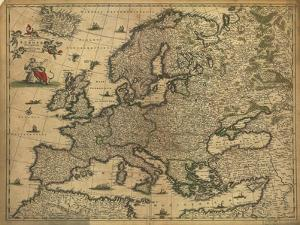 Map of Europe, 1700 by Science Source