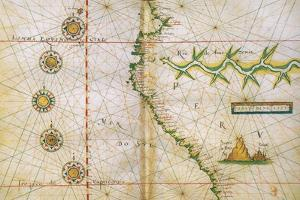 Map of Peru Coast, 1630 by Science Source