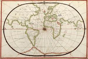 Map of the World, 1590 by Science Source
