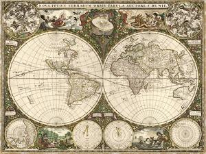 Map of the World, 1660 by Science Source