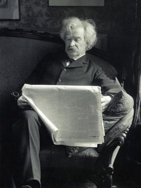 Mark Twain, American Author and Humorist by Science Source