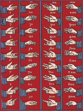 Medieval Dactylonomy, Finger Counting by Science Source