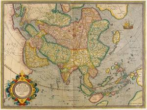 Mercator's Map of Asia by Science Source