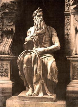 Michelangelo's Moses, 1890s by Science Source