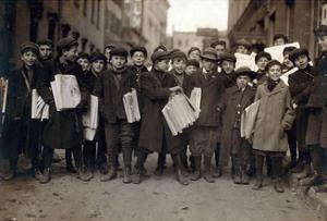 Newark Newsboys, Lewis Hine, 1909 by Science Source