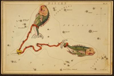 Pisces Constellation, Zodiac Sign, 1825 by Science Source