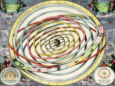 Planetary Orbits, Harmonia Macrocosmica, 1660 by Science Source