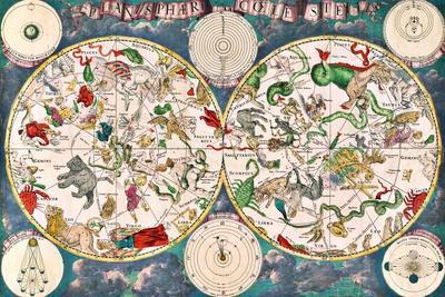 Planisphere Coeleste, Star Map, 1680