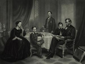 President Lincoln with His Family, 1861 by Science Source