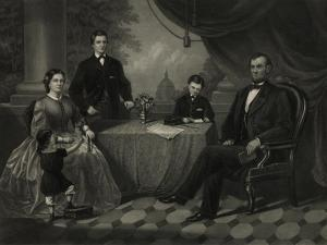 President Lincoln with His Family by Science Source