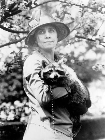 Presidential Pet, Mrs. Coolidge with Rebecca
