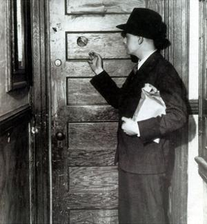 Prohibition, Speakeasy Peephole, 1930's by Science Source