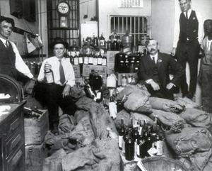 Prohibition, Texas Bootlegger Booty, 1920s by Science Source