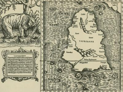 Ptolemy's Map of Ceylon, 2nd Century by Science Source