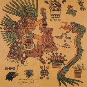 Quetzalcoatl, Aztec Creator Deity by Science Source