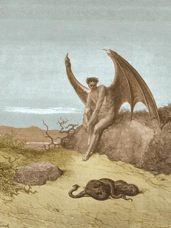 Satan Finding Serpent, by Dore by Science Source