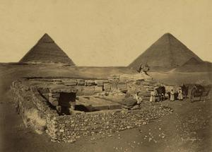 Sphinx and Giza Pyramids, 19th Century by Science Source