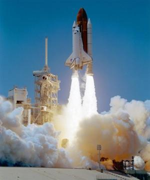 STS-121 launch by Science Source