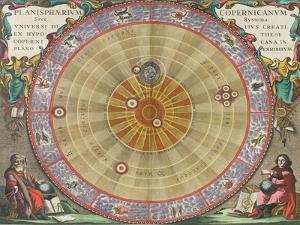 The Planisphere of Copernicus, Harmonia Macrocosmica, 1660 by Science Source