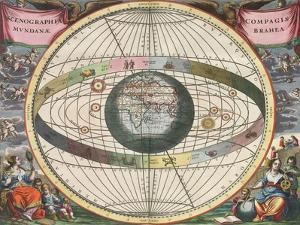 The Universe of Brahe, Harmonia Macrocosmica, 1660 by Science Source