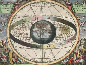The Universe of Ptolemy, Harmonia Macrocosmica, 1660 by Science Source
