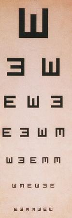 Tumbling E Eye Chart by Science Source