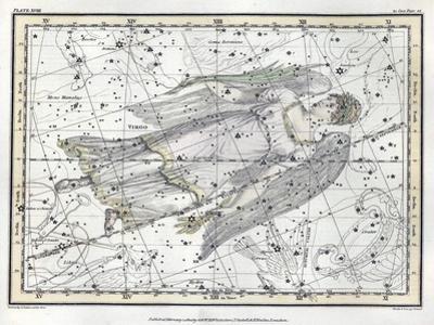 Virgo Constellation, Zodiac, 1822 by Science Source