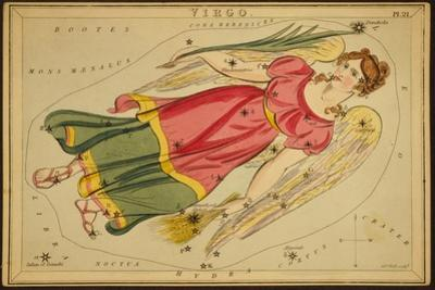 Virgo Constellation, Zodiac Sign, 1825 by Science Source
