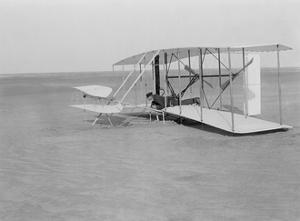 Wilbur Wright Crash Landing in Wright Flyer, 1903 by Science Source