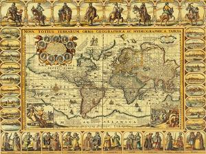 World Map 1626 by Science Source