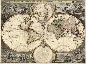 World Map, 1690 by Science Source
