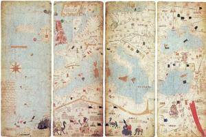 World Map, Catalan Atlas, 1375 by Science Source