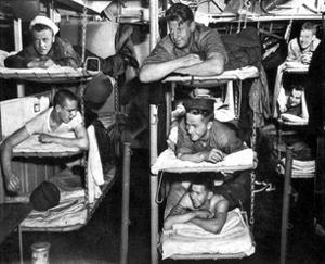 World War II, USN Sailors in Bunks, 1943 by Science Source