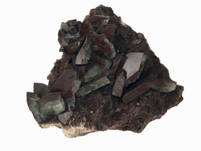 Barite Crystals with Hematite, Cumberland, England, Specimen Courtesy Jmu Mineral Museum by Scientifica