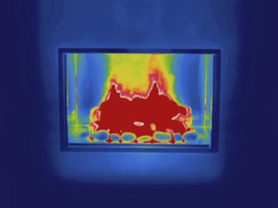 Thermogram - Gas Fireplace by Scientifica