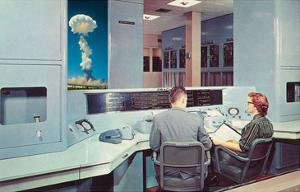 Scientists Watching Nuclear Blast