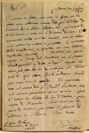 Handwritten Letter from July 30, 1736