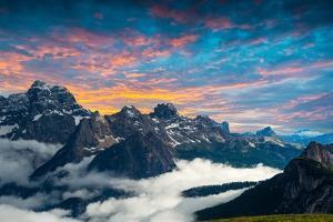 Famous Italian National Park Tre Cime Di Lavaredo. Dolomites, South Tyrol. Auronzo by scorpp