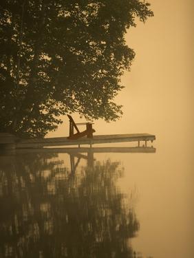 Adirondack Chair on Dock by Scott Barrow