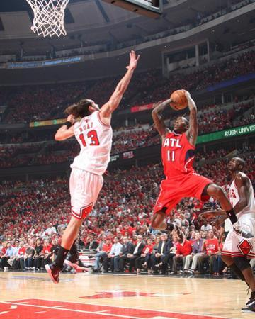 Atlanta Hawks v Chicago Bulls - Game Five, Chicago, IL - MAY 10: Jamal Crawford and Joakim Noah by Scott Cunningham