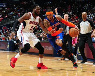 Feb 22, 2014, New York Knicks vs Atlanta Hawks - Carmelo Anthony by Scott Cunningham