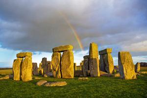 Rainbow over Stonehenge by Scott E Barbour