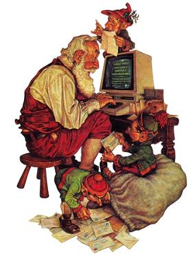"""Santa's Computer,"" December 1, 1982 by Scott Gustafson"