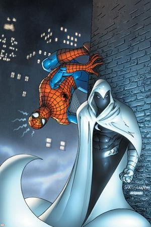 Marvel Team Up No.7 Cover: Moon Knight and Spider-Man
