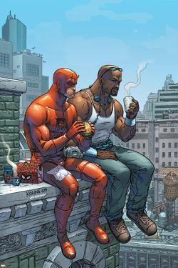 Marvel Team-Up No.9 Cover: Daredevil, Cage and Luke by Scott Kolins