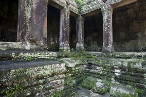 A Detail of Bayon, the Premier Temple Within Angkor Thom by Scott S. Warren