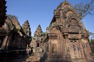 A Detail of Part of the Ancient Temple of Banteay Srei by Scott S. Warren