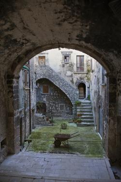 A Small Courtyard in the Hilltop Village of Santo Stefano Di Sessanio by Scott S. Warren