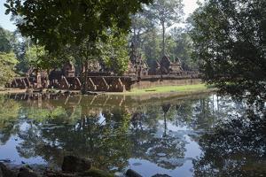 Banteay Srei, an Ancient Temple, Seen from across a Pond by Scott S. Warren