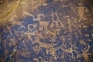 Detail of a Large Panel of Petroglyphs at Sand Island Near Bluff, Utah by Scott S. Warren